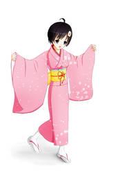 Araragi Tsukihi - Kimono by PlumZero