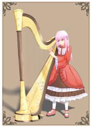 The Harpist by PlumZero