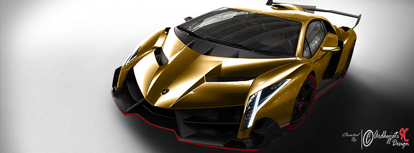 Lamborghini Veneno Gold Colour By ArdhyjatiXDesign