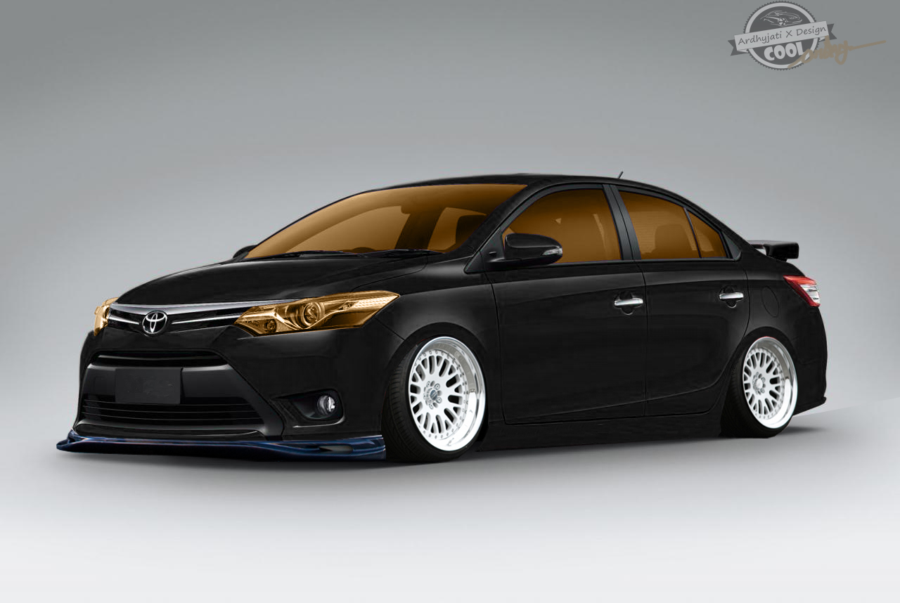 Vios Black Modified >> Toyota All New Vios Stance by ArdhyjatiXDesign on DeviantArt