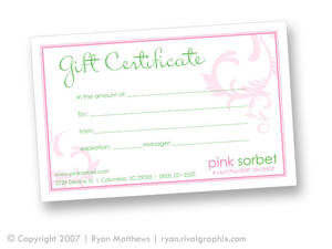 Gift Certificate 01