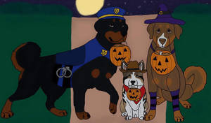 Trick or Treat by Waggintails-Rescue