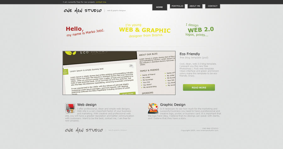 OMS Portfolio - version 1.0 by 0nemanstudio