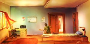 Summertime Breeze: Week 2 - Character's Room [OC]