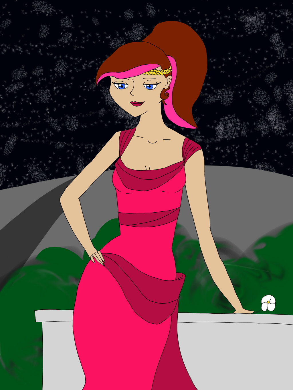 Rose Quartz as Megara by CrimsonGlow