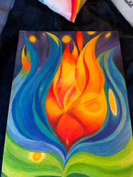 Flaming water