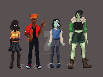 Monster Prom PCs Genderbent