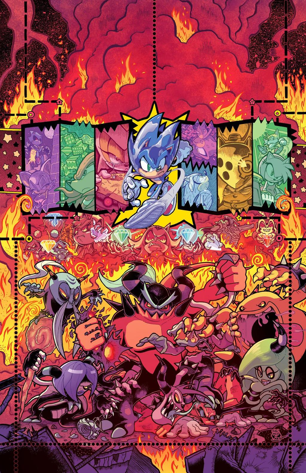 Sonic The Hedgehog 25 Idw Publishing Cover Ri B By Ideafan128 On Deviantart
