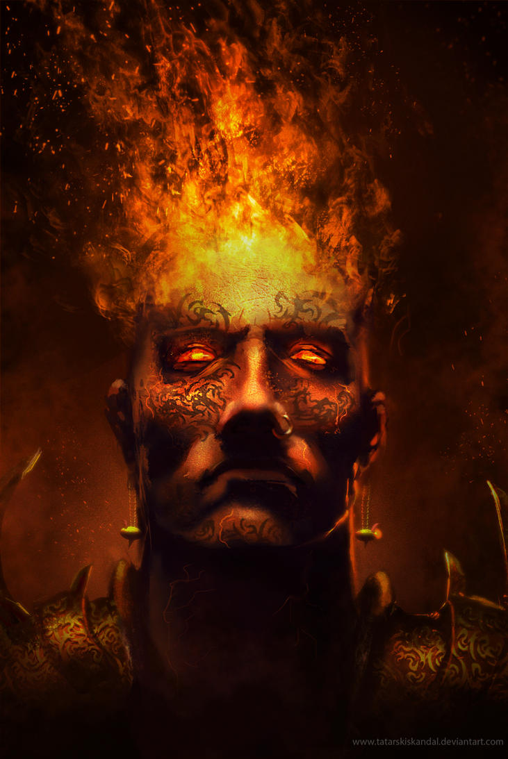 Kazim, the fire guardian by TatarskiSkandal