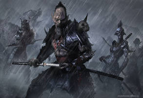 Orc Smurai by TatarskiSkandal