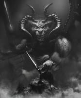 Demon hunter-sketch by TatarskiSkandal