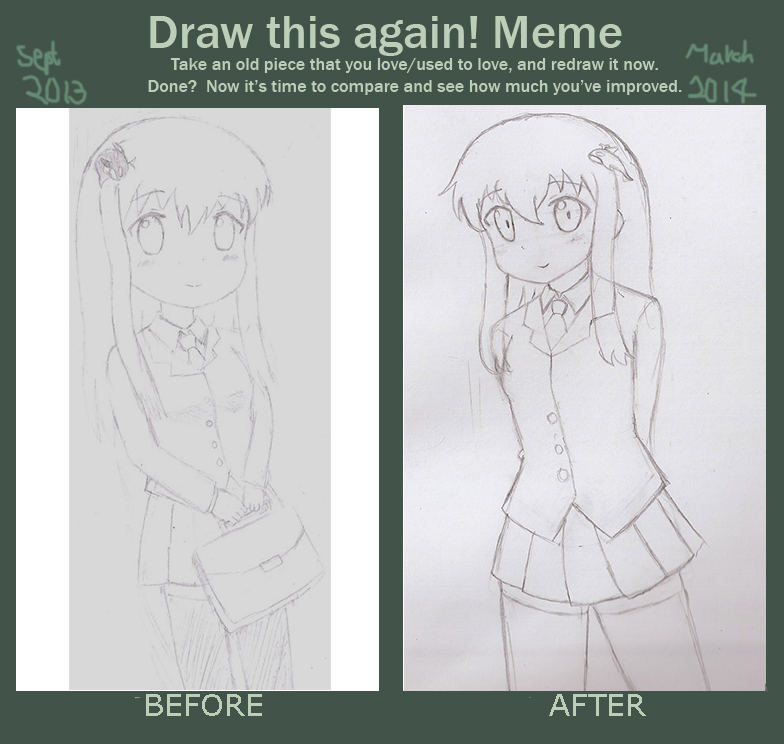 Draw This Again Meme - my OC by DennisLego