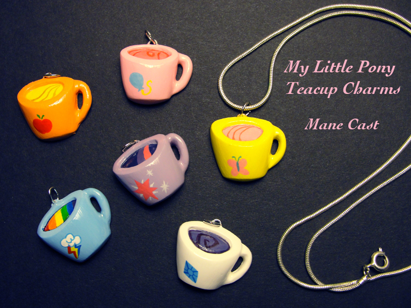 My Little Teacup Charms by stringmouse