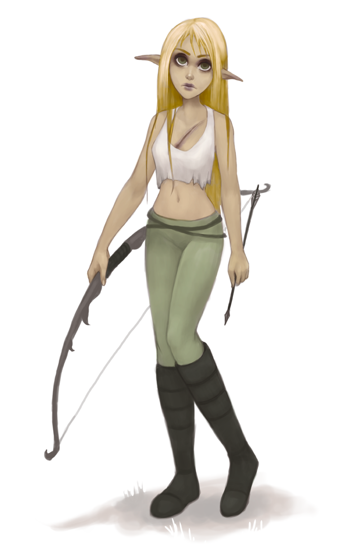 Undead Half elf Alna by stringmouse