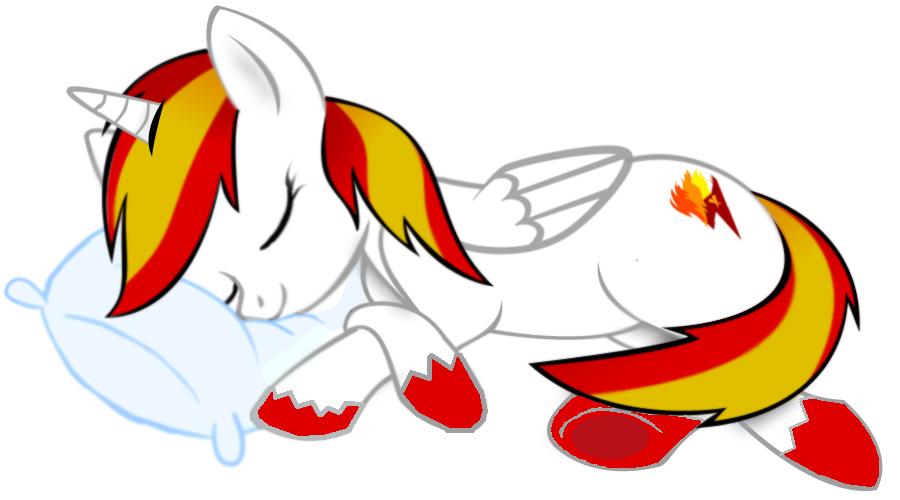 Flammerunner takin a nap by XxFlamerunnerxX