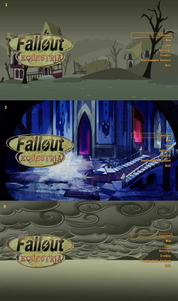 Fallout Equestria Mod Main Menu Chose by XxFlamerunnerxX