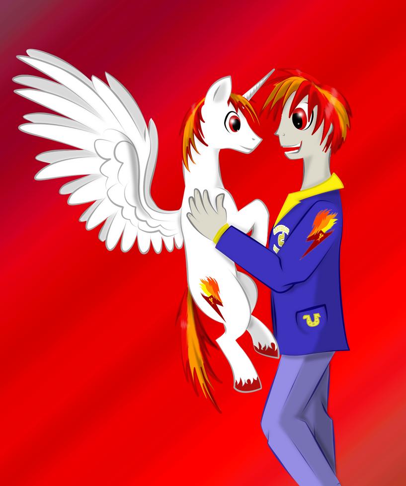 Equestria Flamerunner Meets EG Flamerunner by XxFlamerunnerxX