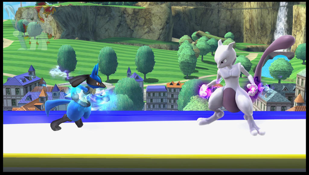 Mewtwo VS Lucario (Super Smash Bros Wii U) Video by XxFlamerunnerxX