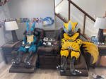 Zeraora and lucario gaming togetter