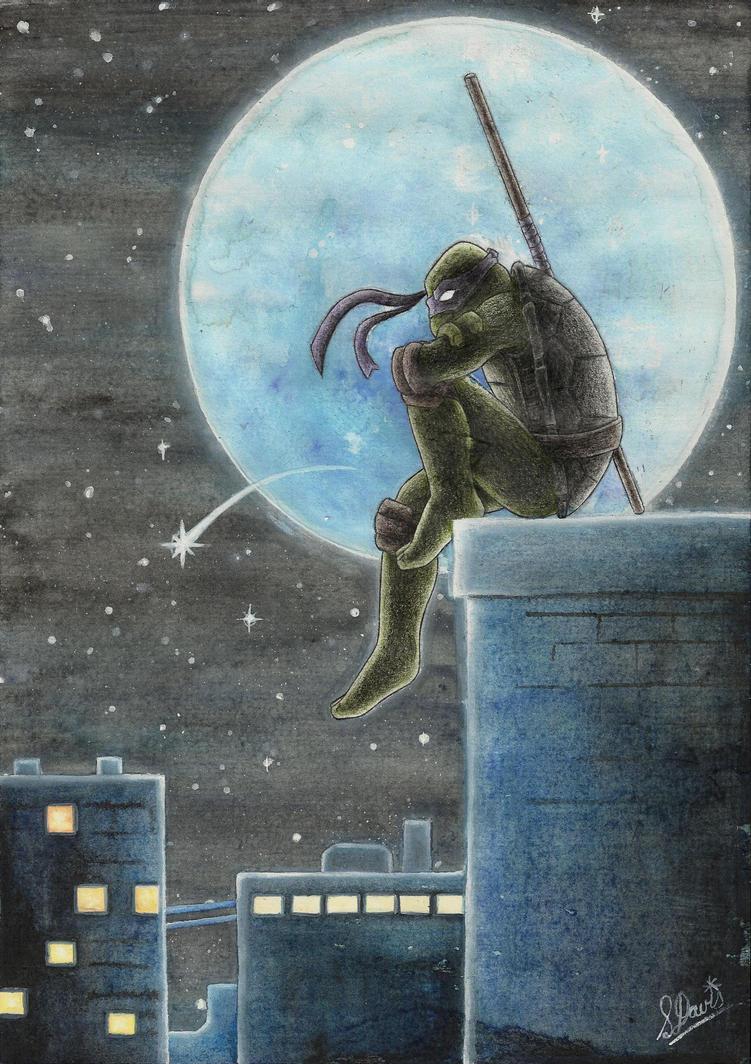 OF: TMNT: Moonlight Solitude by Drag0n-Mistr3ss