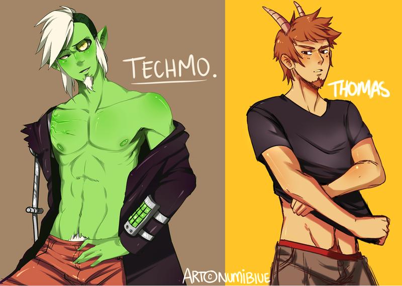 Techmo and Thomas by NumiBlUE