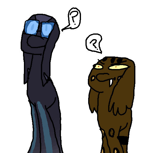 Confused snake-horses by thewaffleperson