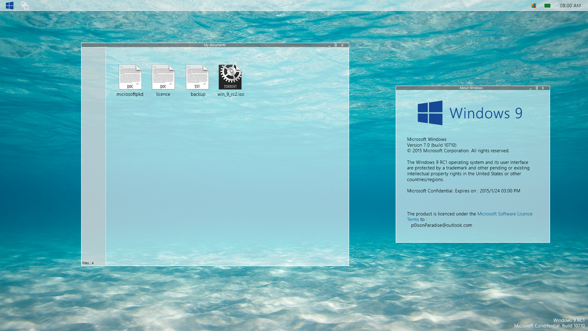 [Design] Windows 9 RC1 by p0isonParadise