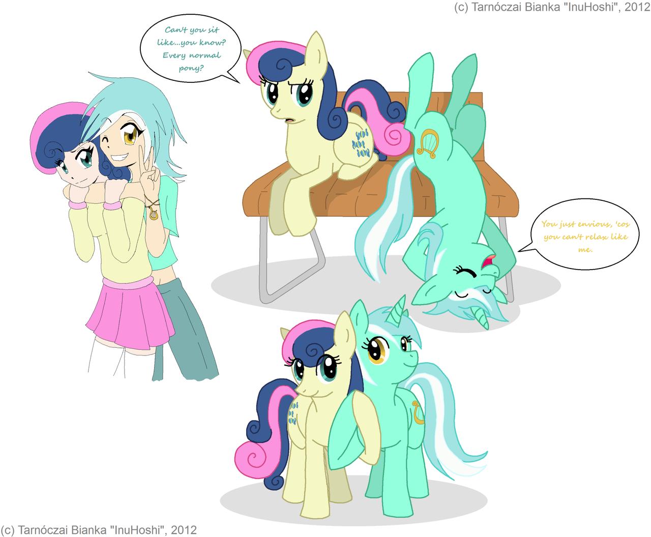 Pony Mania - Pack 03 - Lyra and Bon Bon by InuHoshi