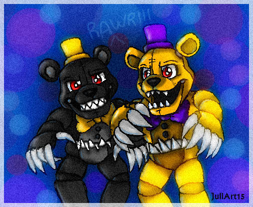 adventure nightmare and nighmtare fredbear by juliart15 on. Black Bedroom Furniture Sets. Home Design Ideas