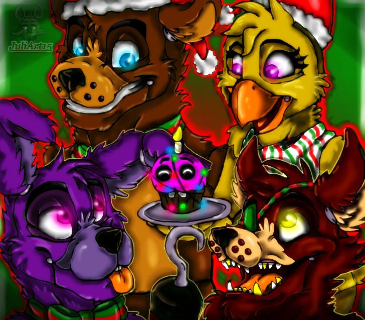 Fnaf Christmas.Merry Christmas Fnaf By Juliart15 On Deviantart