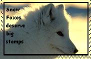 Snow Fox Stamp by Dragon-Stigmata