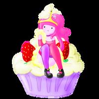 Princess Cupcake-gum by Strawberry--Killer