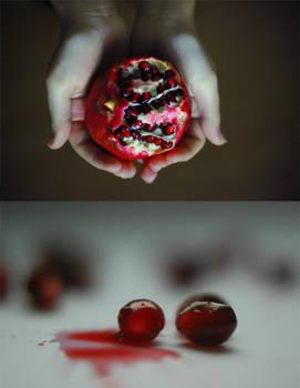 Pomegranates in winter