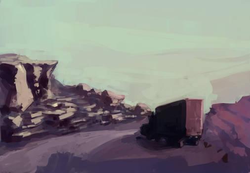 Landstudy with van