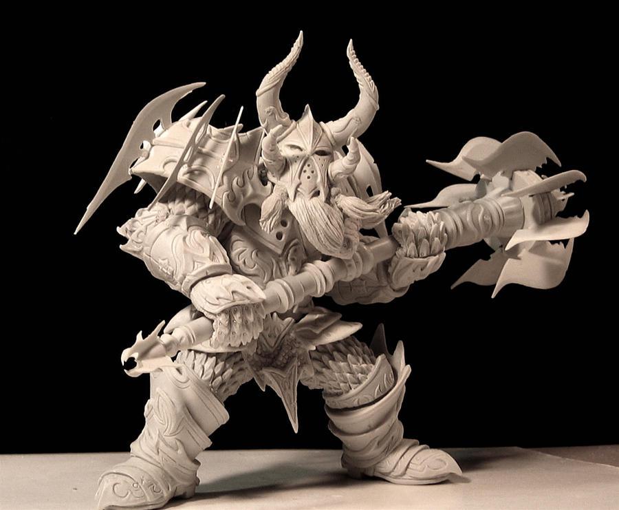 Warcraft, Dwarf Warrior by LocascioDesigns