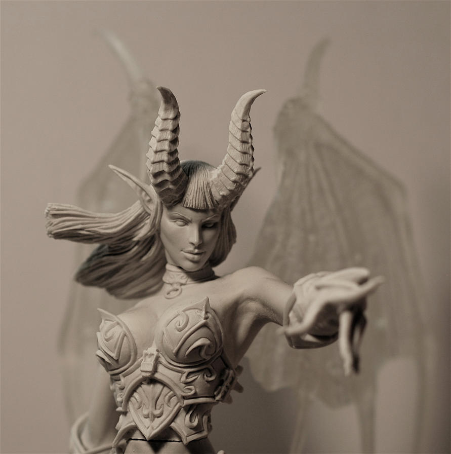 Warcraft, Succubus, close up by LocascioDesigns