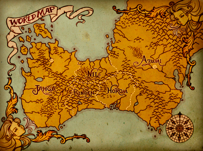 Ruined Empire - World Map by ClaudiaCangini