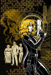 Goldie- Comic Book Cover (inkwork version)