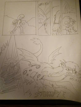 request adean transforming into her dragon form