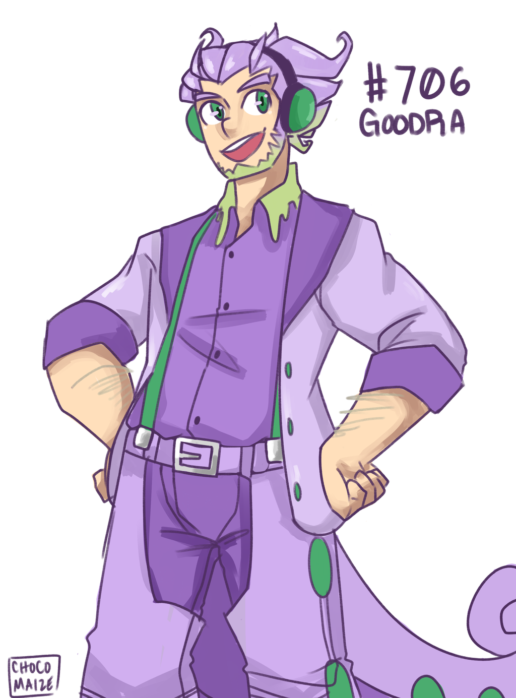 goodra gijinka by karinsawada on deviantart