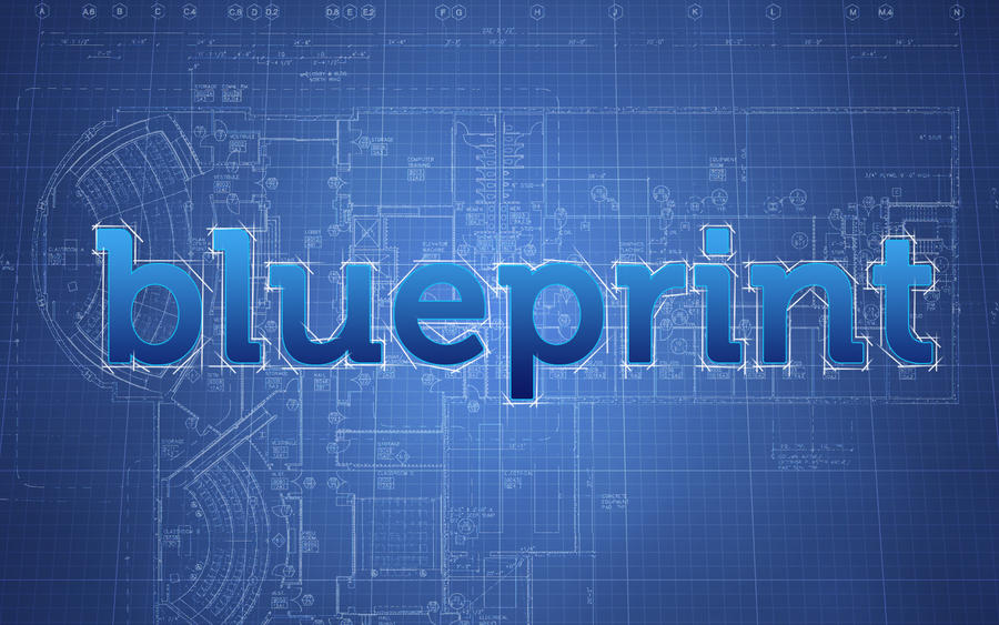 Blueprint wallpaper by canyonlord on deviantart for How to make a blueprint