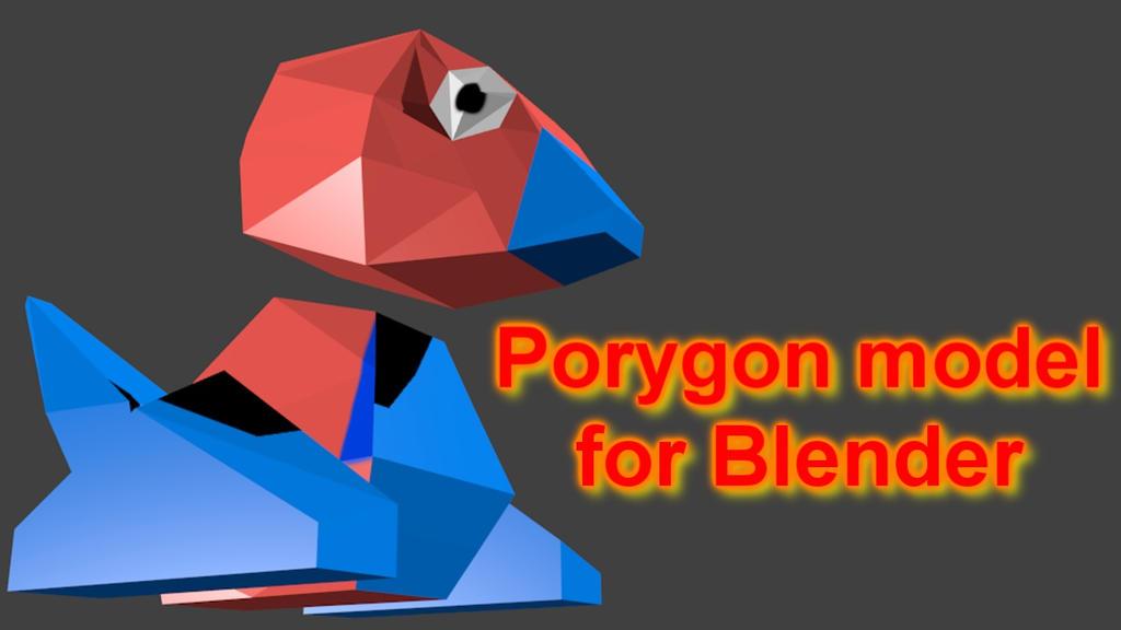 Blender] Porygon model (Free download) by Qurupeco16 on DeviantArt