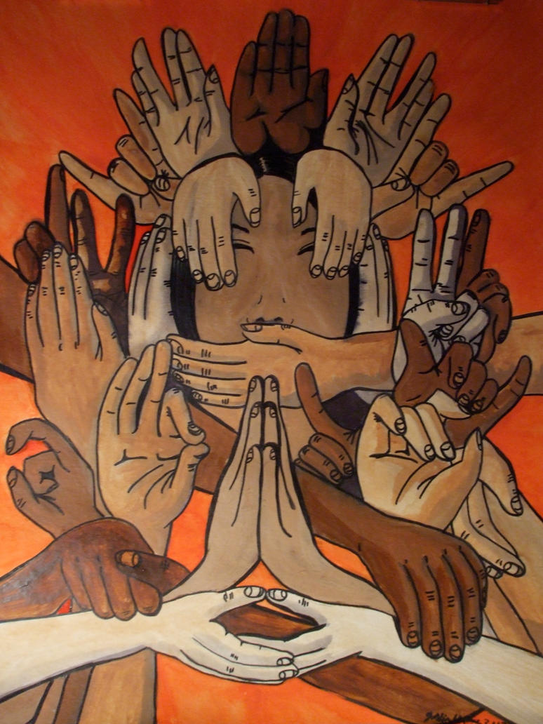 Namaste_Painting by Aneirin-Aryon