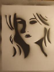Noir inspired stencil print