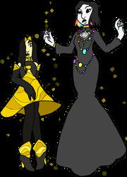 Citrine And Rainbow Diamond by wrathberries