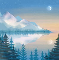 Frozen sunrise by ren0mi