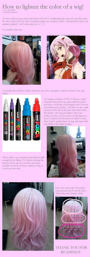 How to lighten a wig