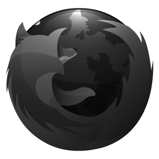 Black Firefox Icon by kereight007