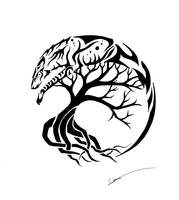 Spirit Wolf and Tree of Life