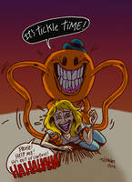 The Terrifying curse of Mr Tickle ! by ticklegas